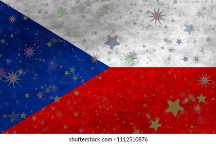 Illustraion of Czech Flag
