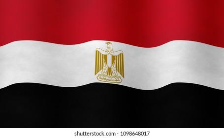 Illustraion of Egyptian Flag