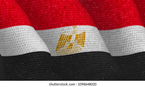 Illustraion of a flying Egyptian Flag