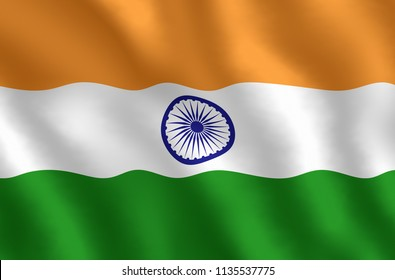 Illustraion of Indian Flag