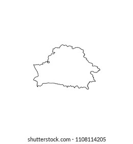 An Illustrated Country Shape of Belarus