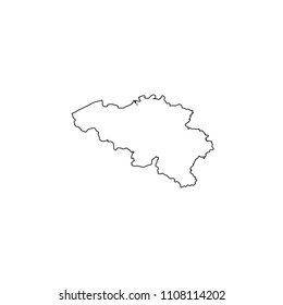 An Illustrated Country Shape of Belgium
