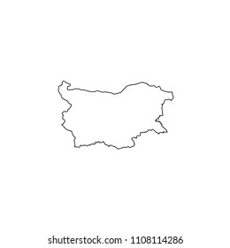 An Illustrated Country Shape of Bulgaria
