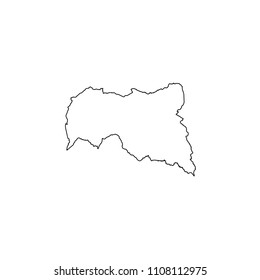 An Illustrated Country Shape of Central African Republic