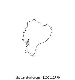 An Illustrated Country Shape of Ecuador