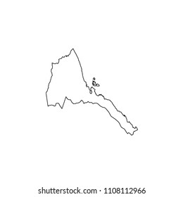 An Illustrated Country Shape of Eritrea