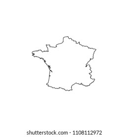 An Illustrated Country Shape of France