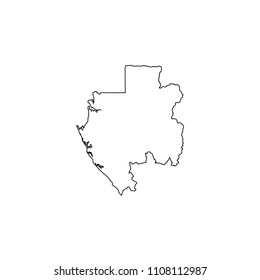 An Illustrated Country Shape of Gabon