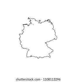 An Illustrated Country Shape of Germany