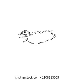 An Illustrated Country Shape of Greenland