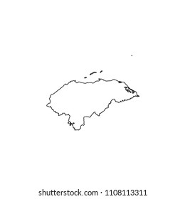 An Illustrated Country Shape of Honduras
