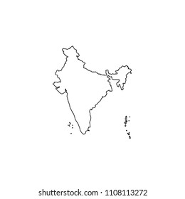 An Illustrated Country Shape of India