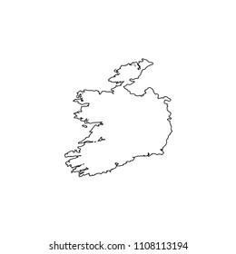 An Illustrated Country Shape of Ireland