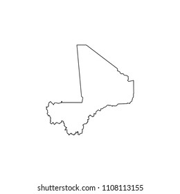 An Illustrated Country Shape of Mali