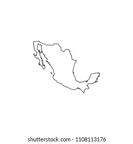 An Illustrated Country Shape of Mexico