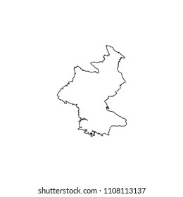 An Illustrated Country Shape of North Korea