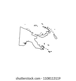 An Illustrated Country Shape of Papua New Guinea