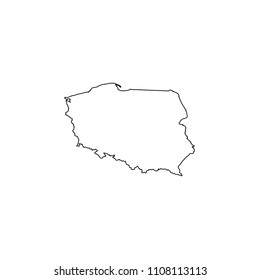 An Illustrated Country Shape of Poland