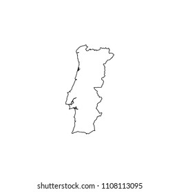 An Illustrated Country Shape of Portugal