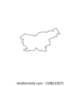 An Illustrated Country Shape of Slovenia
