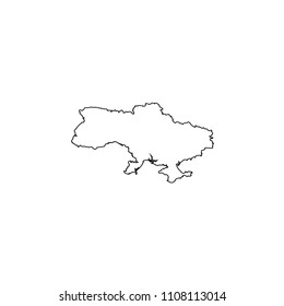 An Illustrated Country Shape of Ukraine