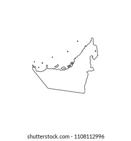 An Illustrated Country Shape of United Arab Emirates