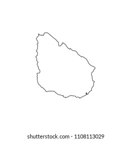 An Illustrated Country Shape of Uruguay