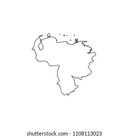An Illustrated Country Shape of Venezuela