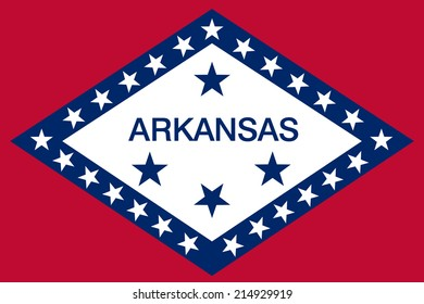 An Illustrated Drawing of the flag of Arkansas state (USA)