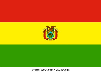 An Illustrated Drawing of the flag of Bolivia