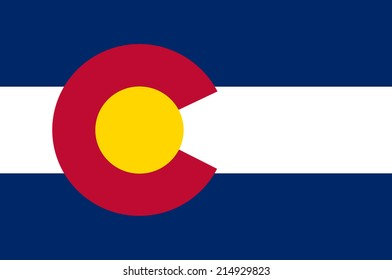 An Illustrated Drawing of the flag of Colorado state (USA)