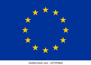 An Illustrated Drawing of the flag of European Union
