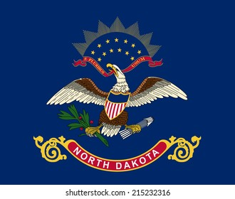An Illustrated Drawing of the flag of North Dakota state (USA)