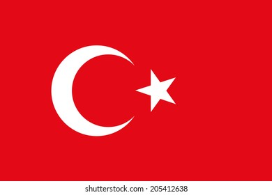 An Illustrated Drawing of the flag of Turkey