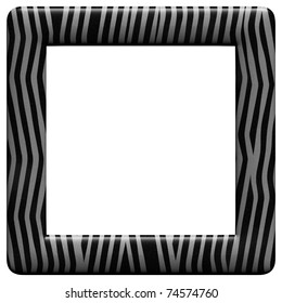 Illustrated Frame with Zebra pattern