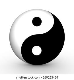 Illustrated Yin and Yang symbol