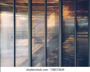 illustrates the beauty of polycarbonate board sheet wall staircase background in office or modern home.