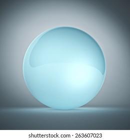 illustration 3d of crystall ball