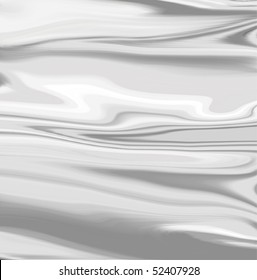 Illustration - abstract background made of liquid silver