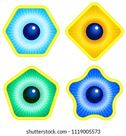 Illustration of the abstract eye icons