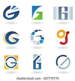 illustration of abstract icons based on the letter G