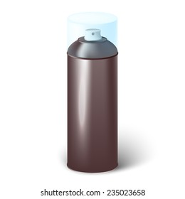 illustration of aerosol spray can with cap isolated