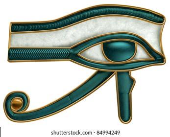 Illustration of the ancient Egyptian Eye of Horus symbol