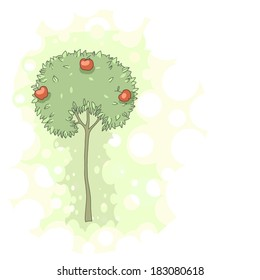 Illustration of an apple tree