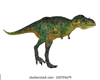 Illustration of a Aucasaurus (dinosaur species) isolated on a white background