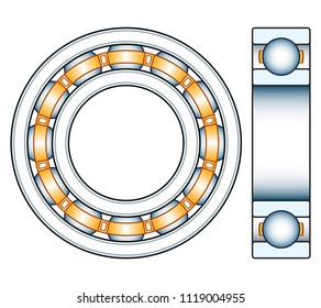 Illustration of the ball bearing design