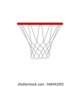 illustration of a basketball rims.