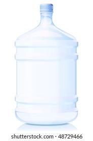 Illustration big bottle of water.