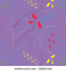 Illustration of bird tracks