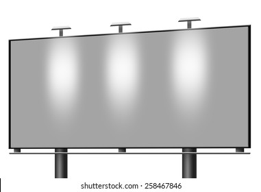 Illustration of Blank billboard isolated on white background